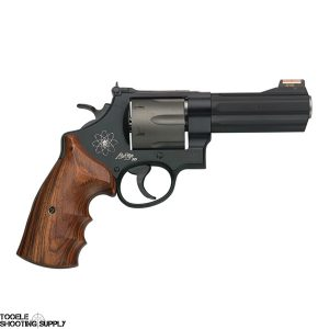 Smith & Wesson 329PD Scandium Frame Revolver, .44 Mag, 4 Inch Barrel, Wood Grips, Matte Black Finish, 6 Rd, HiViz Sights, Smith & Wesson 163414