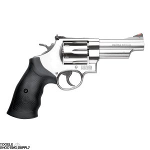 Smith & Wesson 629 .44 mag Revolver, 4 Inch Barrel, Satin Stainless, Rubber Grips, Smith & Wesson 163603