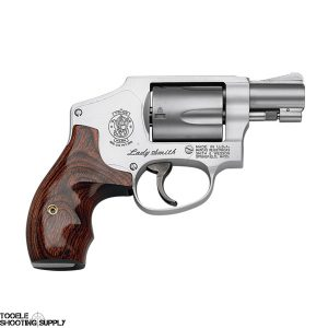 "Smith & Wesson 642LS Airweight .38 Special Ladysmith Revolver, 1.87"" Barrel, Wood Grips, Stainless Finish, 5 Round- Smith & Wesson 163808"