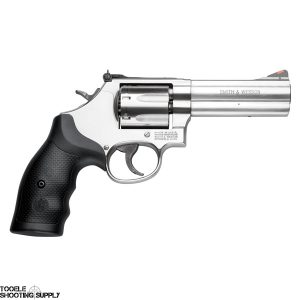 """Smith & Wesson 686 Plus Revolver, .357 Magnum, 4"""" Barrel, Rubber Grip, Stainless Finish, 7 Rd, Adjustable Sights, Smith & Wesson 164194"""