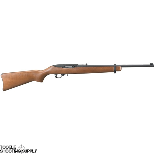 "Ruger 10/22 .22lr Semi-Auto Rifle- 18.5"" Barrel, Black Matte Finish, Birch Hardwood Stock, 10-Round Magazine- Ruger 1103"