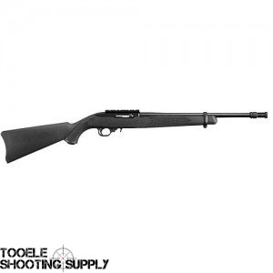 Ruger 10/22 Tactical Rifle, .22lr, 16.125 inch Threaded Barrel with Flash Suppressor, Black Synthetic Stock, Matte Black Finish- Ruger 1261