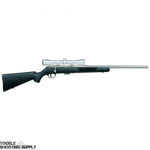 """Savage 93FVSSXP .22 Mag Bolt Action Rifle with Scope, Stainless Steel, 21"""" Target Barrel, Synthetic Stock, Accutrigger -Savage 95200"""