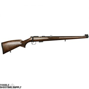 "CZ 455 FS Bolt-Action .22lr Rifle, Full Length Mannlicher Walnut Stock, 5-Round Mag, 20.7"" Barrel, Blued Finish- CZ 02105"