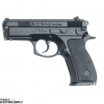 "CZ 75 P-01 Compact 9mm Semi-Auto Pistol, Alloy Frame, Black Polycoat Finish, Decocker, 3.8"" Barrel, 10-Round Mag, CZ 01199FC"