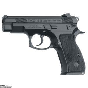 CZ 75 D PCR Compact 9 mm Luger Pistol, Alloy Frame, Decocker, Black Polycoat, 14-Round Mags- CZ 91194