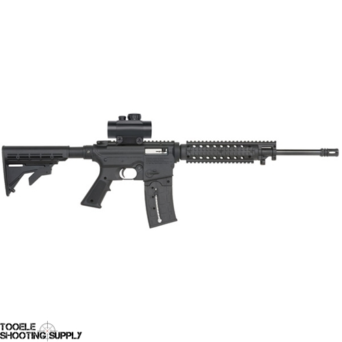 Mossberg 715T .22LR Rifle w/ Collapsible Stock, 25rd Mag, Flat Top Receiver with Included Red-Dot Sight, Flash Suppressor - 37234