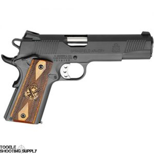 Springfield Armory 1911 Loaded .45 ACP Semi-Auto Pistol- Parkerized Finish, Cocobolo Grips, Trijicon Night Sights- Springfield PX9109LP