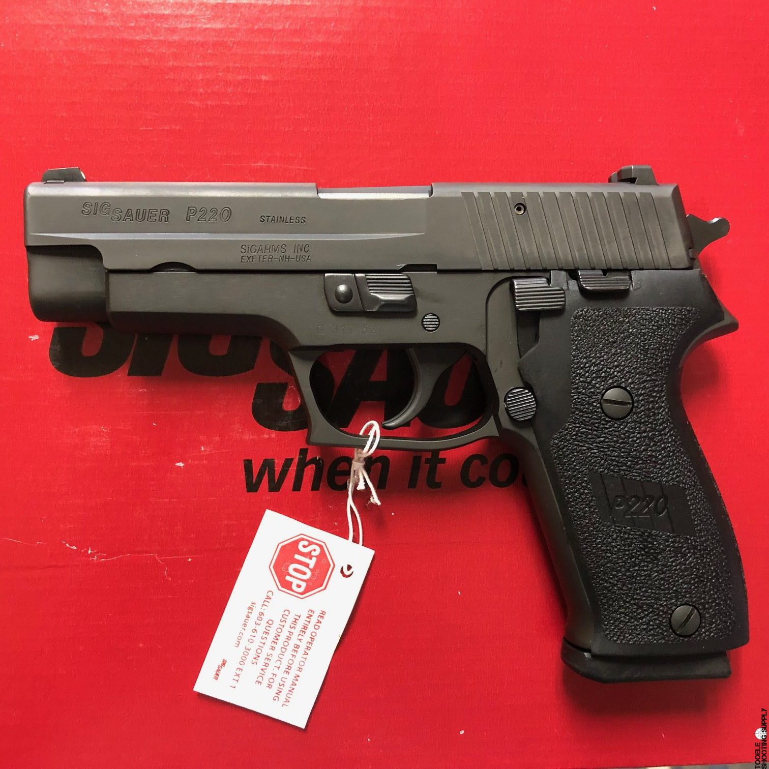 Sig Sauer P220  45 ACP Full-Size Pistol, Factory Certified Pre-Owned  (C P O ) 8-RD - Sig Sauer UD220-45-B1